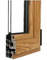60系列铝生态木型复合隔热型材