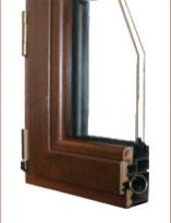 60系列铝生态木型复合经济窗