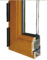 60系列铝生态木型复合中空玻璃内开窗