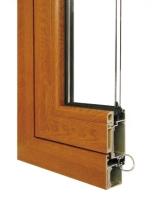 60系列铝生态木型复合中空玻璃外开窗