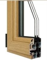 70系列铝生态木型复合型材三玻璃