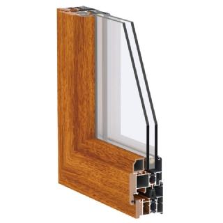 65系列铝生态木复合平开窗