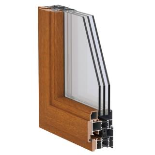 75A-II系列铝生态木复合平开窗