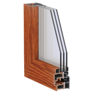 75B系列铝生态木复合平开窗