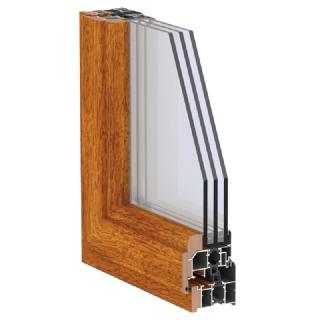 75A-I系列铝生态木复合平开窗
