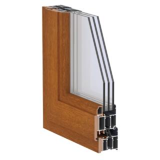 75系列铝生态木复合内平开门